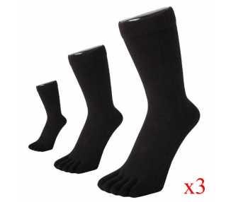 Lots de 3 paires de chaussettes noires ToeToe