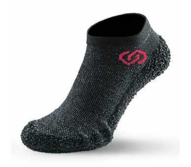 Skinners gris foncé chaussures minimalistes chaussettes à semelle couleur speckled black