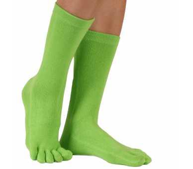 Chaussettes à 5 doigts vertes