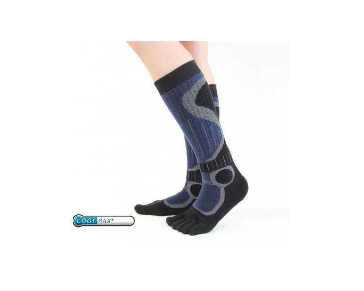 chaussettes chaudes 5 doigts id al pour les sports d 39 hiver. Black Bedroom Furniture Sets. Home Design Ideas