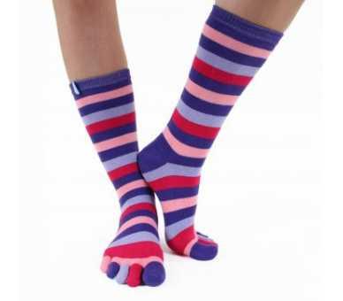 Chaussettes à 5 doigts multicolores
