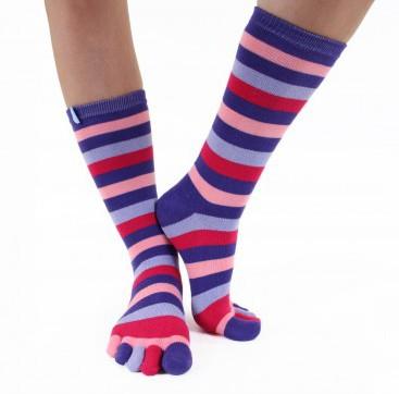 Chaussettes à 5 doigts multicolores Toe Toe