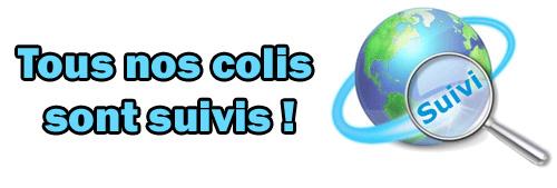 Texte : suivi et assuré pour les envoies en France d'une valeur inférieur à 40€
