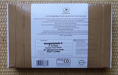 Autre type d'emballage en lettre suivie