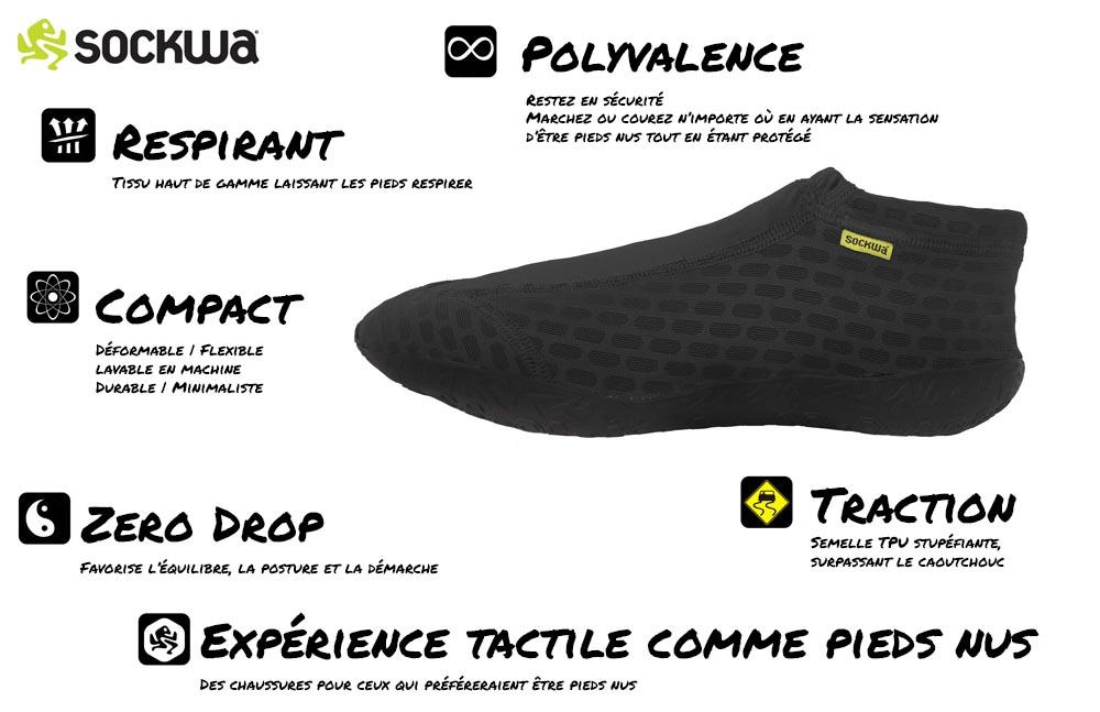 Avantages des chaussures minimalistes Sockwa X8