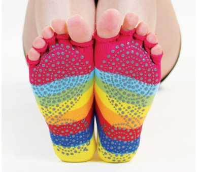 Socquettes antidérapantes orteils ouverts