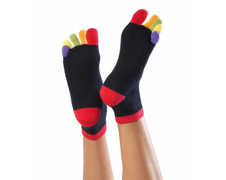 Socquettes à doigts colorés KNITIDO