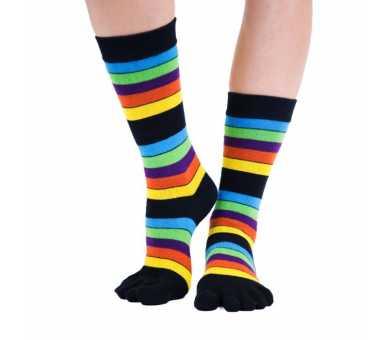 Chaussette à 5 doigts multicolore neon