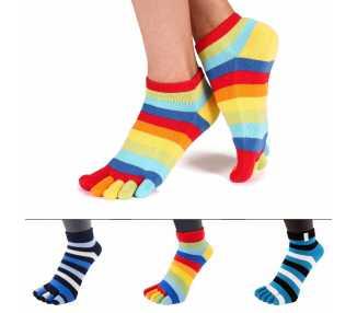 Socquettes à 5 doigts multicolores Toe Toe