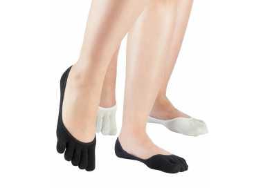 Chaussettes ballerine en soie à 5 doigts KNITIDO
