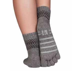 Chaussettes à 5 doigts pour la maison Mérinos et Cachemire antidérapante KNITIDO