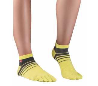 Socquettes à doigts fines et colorées en Coolmax - Track & Trail Spins KNITIDO