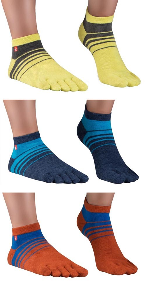 Socquettes à doigts fines et colorées en Coolmax - Track & Trail KNITIDO