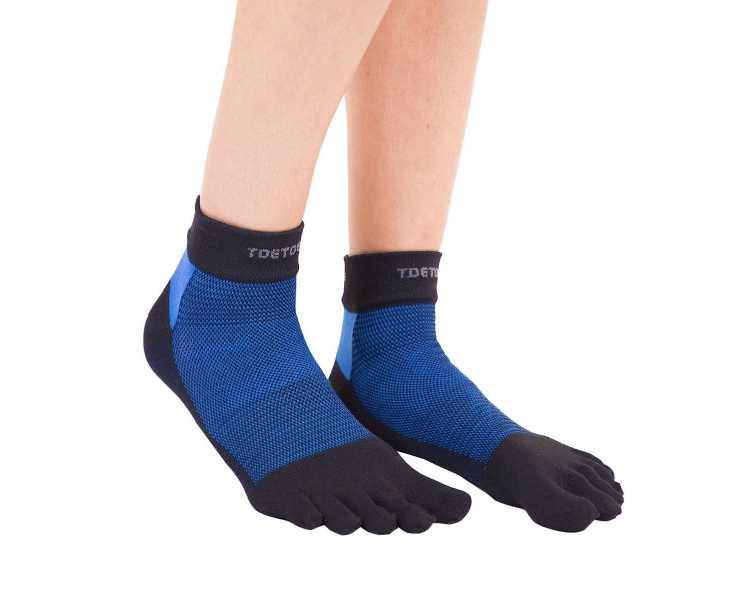Chaussettes Outdoor basses et fines à 5 doigts en tissu Coolmax