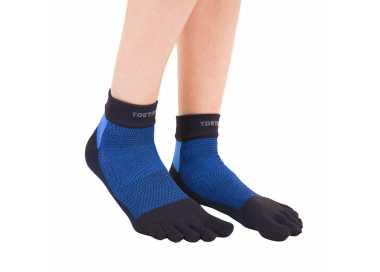 Chaussettes basses à doigts bleu et noir Toetoe outdoor