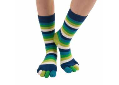 Chaussette à 5 doigts multicolore pond ToeToe