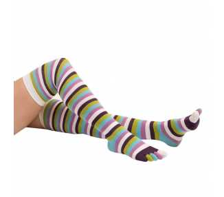 Bas - jambières à 5 doigts ToeToe multicolores twiling
