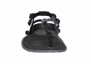 Sandales minimalistes Cloud noires de Xero Shoes pour femme vu de face