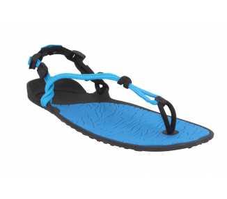 Sandales minimalistes Cloud bleues et noires hawai de Xero Shoes pour femme HASU