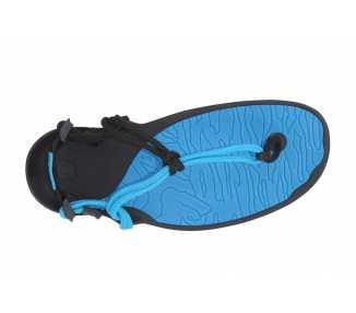 Sandales minimalistes Cloud bleues de Xero Shoes pour femme vu de-dessus