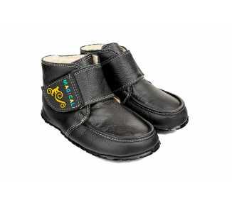 Chaussure minimaliste chaude Ziuziu couleur noir pour enfant