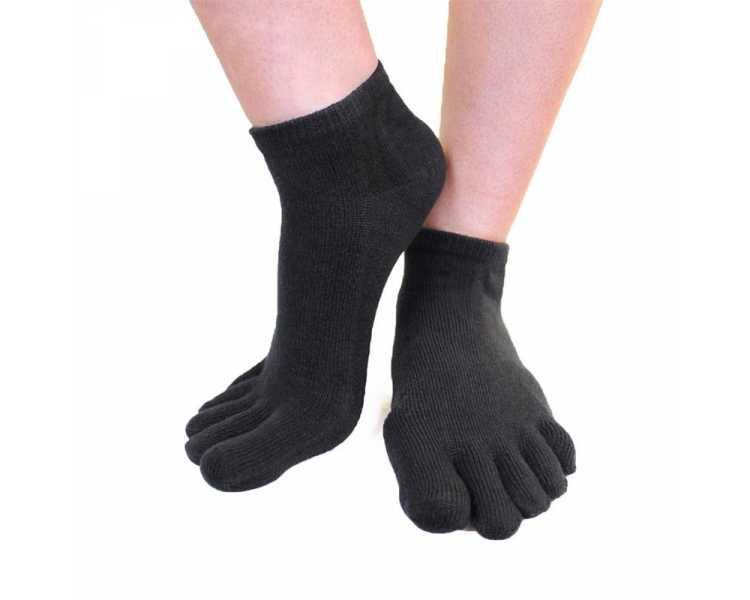 Socquettes noires à 5 doigts ToeToe