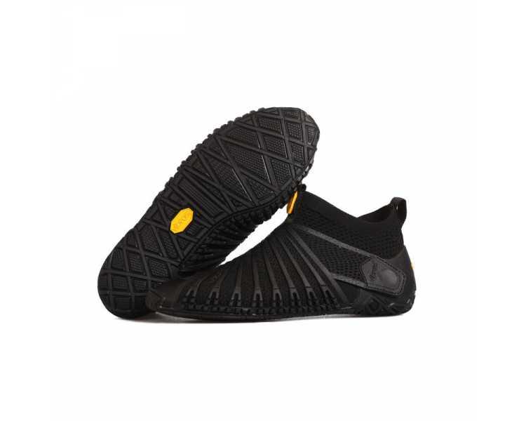 Chaussures Furoshiki Knit High (version haute) noires pour homme