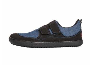 Chaussures minimalistes enfant Puck 2 bleu vu de côté