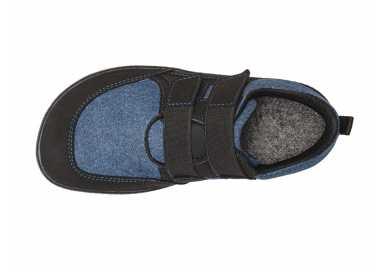 Chaussures minimalistes enfant Puck 2 bleu vu de-dessus