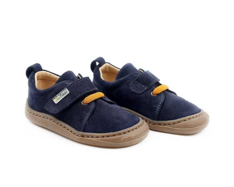 chaussures minimalistes modèle Harlequin, coloris levis, marque Tikki Shoes