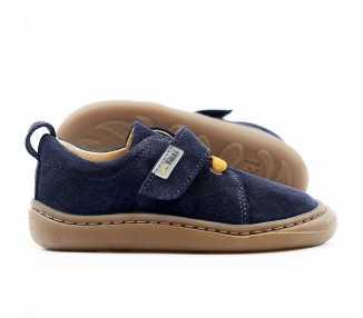 chaussures minimalistes modèle Harlequin, coloris levis, marque Tikki Shoes vu de côté