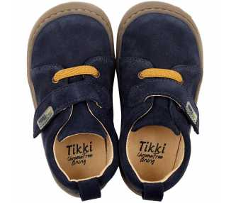 chaussures minimalistes modèle Harlequin, coloris levis, marque Tikki Shoes vu de dessus