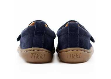 chaussures minimalistes modèle Harlequin, coloris levis, marque Tikki Shoes vu de derrière
