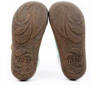 Semelle des chaussures minimalistes modèle Harlequin Vegan, marque Tikki Shoes