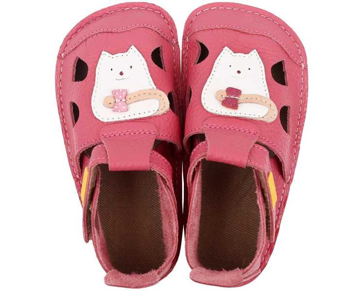 sandales barefoot enfant Nido Tikki Shoes rose Kitty