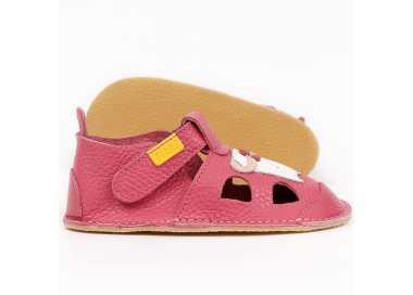 sandales barefoot enfant Nido Tikki Shoes rose Kitty vu de côté