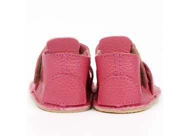 sandales barefoot enfant Nido Tikki Shoes rose Kitty vu de derrière