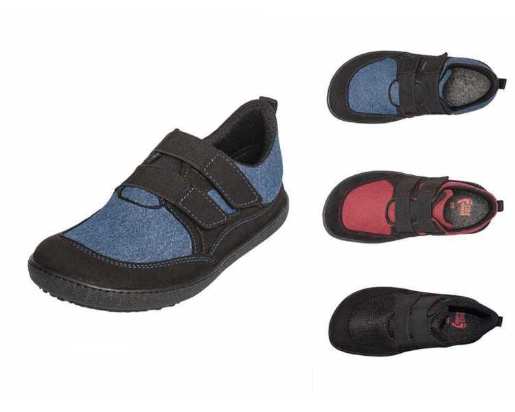 Chaussures minimalistes enfant Puck 2 Sole Runner bleu, rouge ou noir
