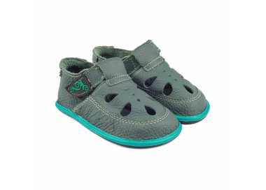 Sandale minimaliste Coco verte Enfant Magical Shoes