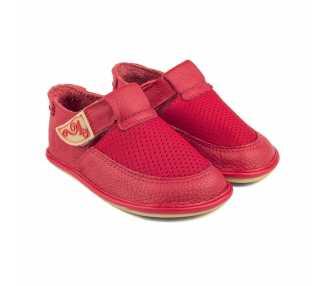 """Chaussures pieds nus modèle """"Bebe"""" rouge BE02R Enfant Magical Shoes"""