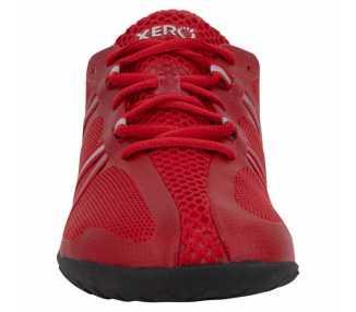 Chaussure minimaliste Speed Force Xero Shoes couleur rouge vu de face