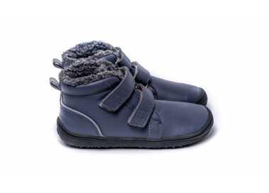 Chaussure minimaliste chaude enfant modèle penguin gris Be Lenka vu de côté