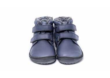 chaussures minimalistes enfant Penguin gris vu de face - Be Lenka