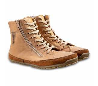 Alaskan Buffalo marron Magical Shoes chaussures minimalistes en cuir pour l'hiver