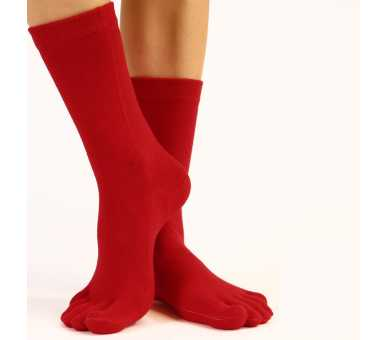 Chaussettes à 5 orteils rouge