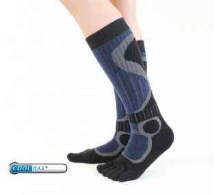Chaussettes sports d'hiver à 5 doigts