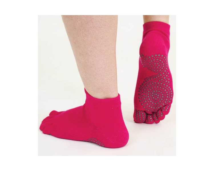 Socquettes antidérapantes à 5 doigts ToeToe