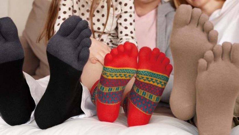 Chaussettes à 5 doigts
