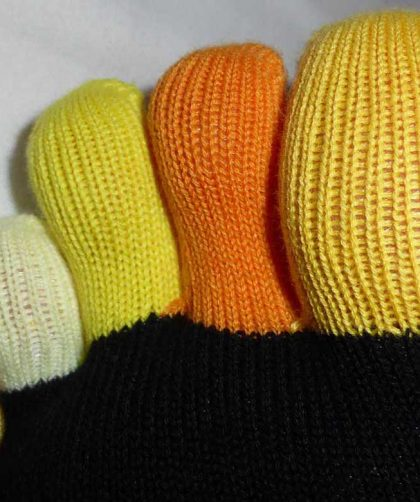 Chaussettes multicolores à 5 orteils Knitido