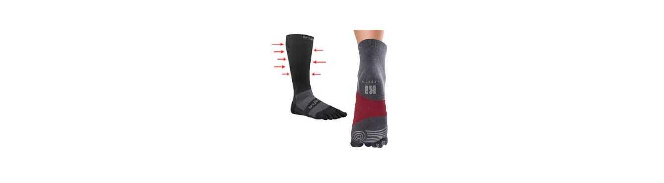 Chaussettes à doigts classées par type